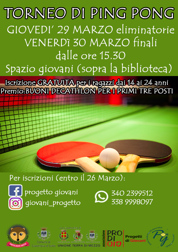 Torneo ping pong Castelnovo di Sotto